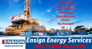 Ensign Energy Services Job Vacancies
